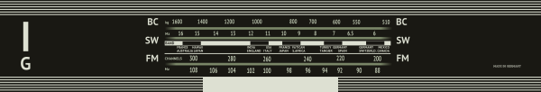 Grundig 2440 antique radio dial plate