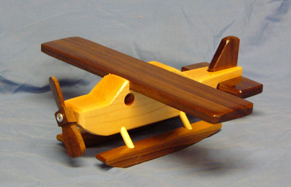 Wooden toy plane, used as inspiration for 3D subdivision modelling