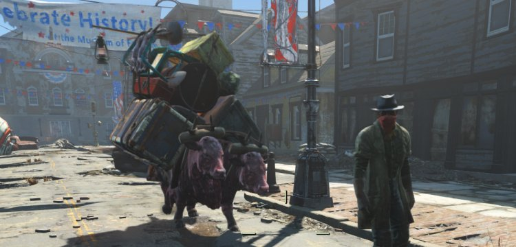A Provisioner travelling between settlements in Fallout 4