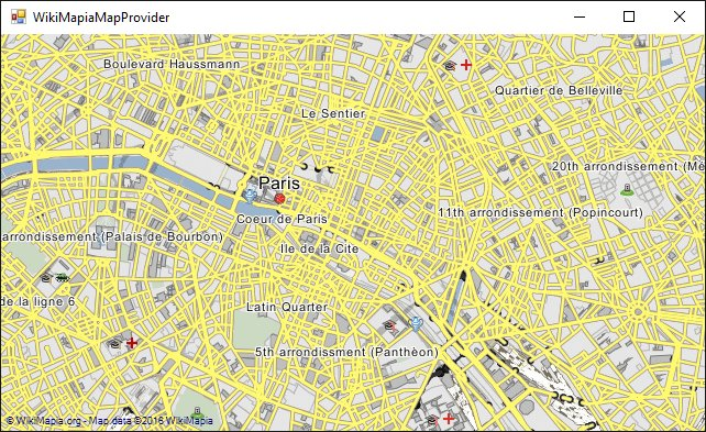 WikiMapia provider for GMap.NET