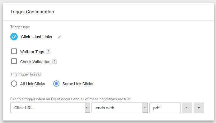 Configuring a trigger in Google Tag Manager
