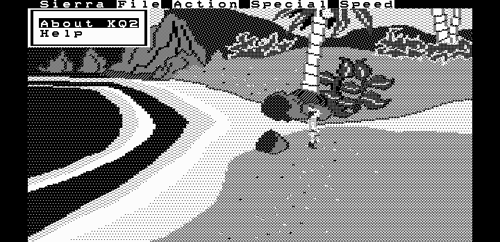 King's Quest II running on Hercules