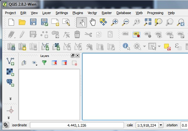 The QGIS GUI