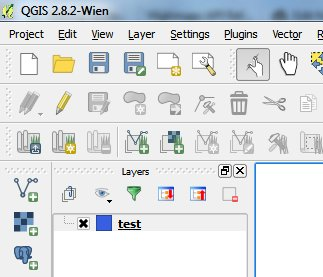 New layer created in QGIS