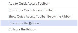 Customize Visio ribbon