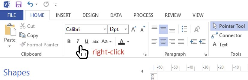 Finding the Visio developer ribbon