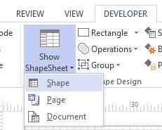 Opening a smart shape's Shapesheet