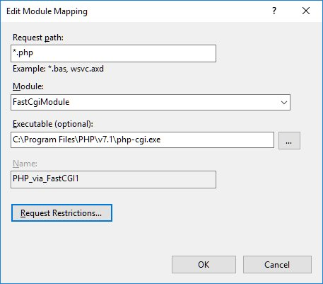 PHP Handler Mapping in IIS